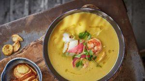 Крем-суп из топинамбура с кальмаром рецепт с фото