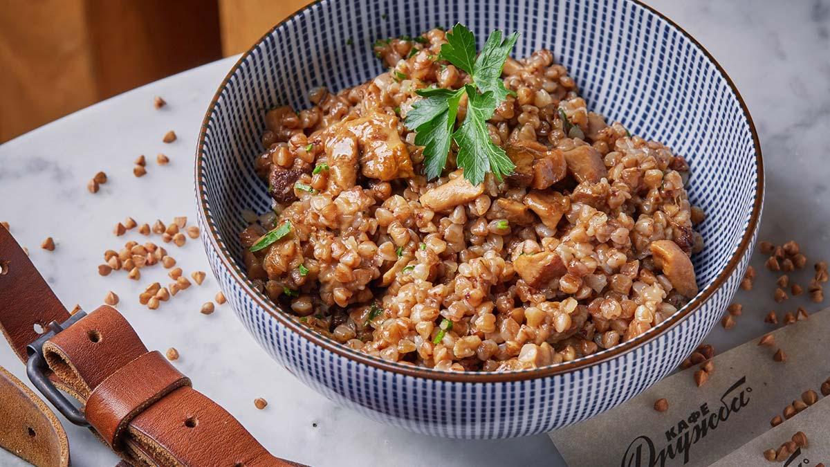 рецепт гречки с белыми грибами фото