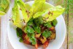 Печеные баклажаны с томатами и соусом эбара