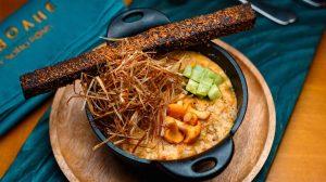 Жульен из лисичек с кедровыми орехами и луковым сеном рецепт шеф-повар ресторана наволне
