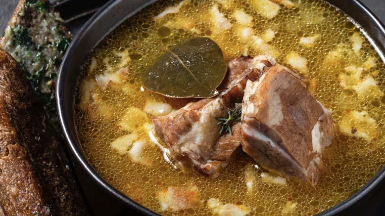 Гороховый суп со свиными ребрами и беконом пошаговый рецепт с фото