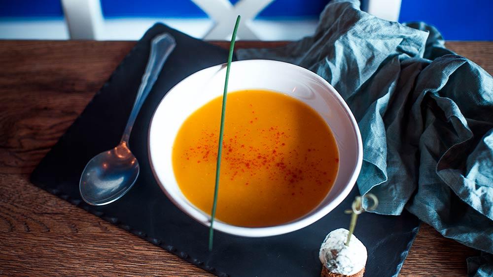Рецепт супа из тыквы и фенхеля от шеф-повара ресторана фото пошаговый подробный
