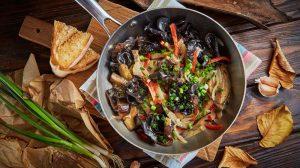 Древесные грибы с баклажанами рецепт пошаговый с фото от шеф-повара ресторана