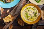 Картофельный суп с грибами шиитаке