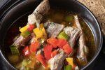 Суп из бараньих ребер с сельдереем и болгарским перцем