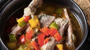 Суп из говяжьих рёбер с сельдереем и болгарским перцем рецепт с фото от шеф-повара ресторана пошаговый