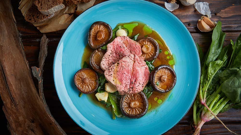медальоны из говядины с грибами рецепт от шеф-повара фото