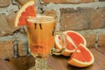 Белый глинтвейн с грейпфрутом и ванилью