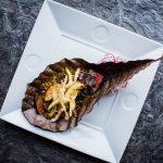 Говядина тендерлойн с трюфельно - сливочным тосазу и фуа гра