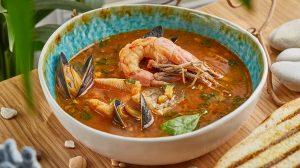 рецепт Рыбный суп по-сиракузски пошаговый шеф повара ресторана фото