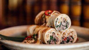 Рецепт блинов с мясом с шитаки пошаговый от шеф-повара