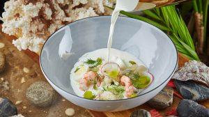 Рецепт белая окрошка Черетто море
