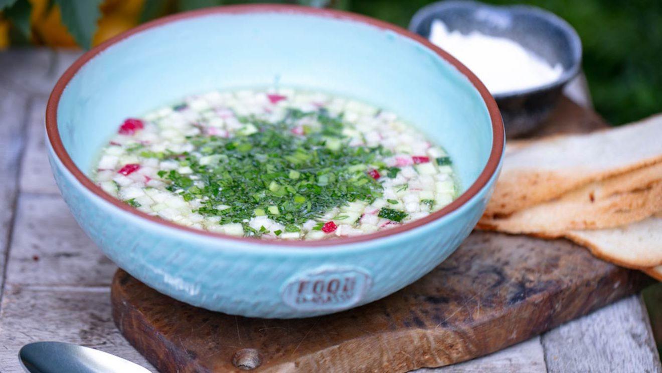 Рецепт окрошка на белом квасе Food Embassy