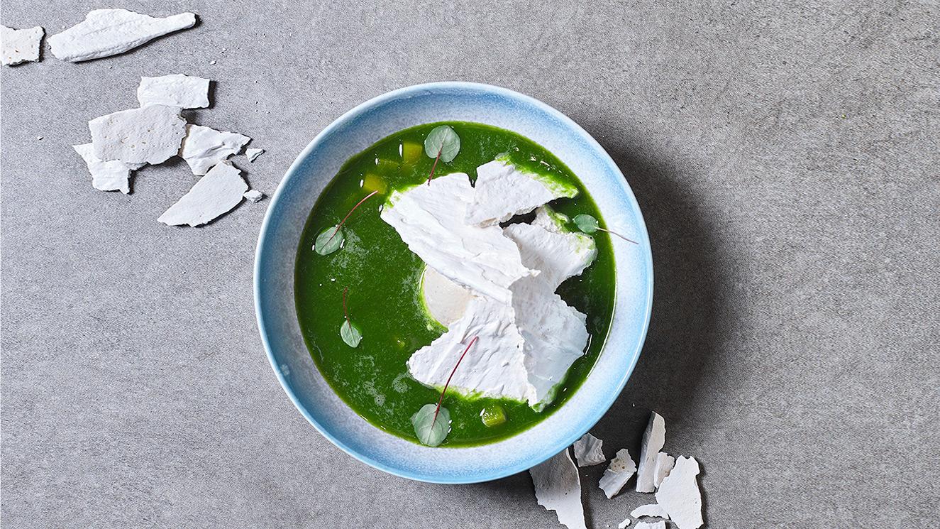 Сладкий суп из шпината